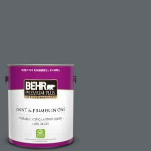 1 gal. #N450-6 Binary Star Eggshell Enamel Low Odor Interior Paint and Primer in One