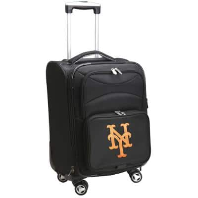 MLB New York Mets 21 in. Black Carry-On Spinner Softside Suitcase