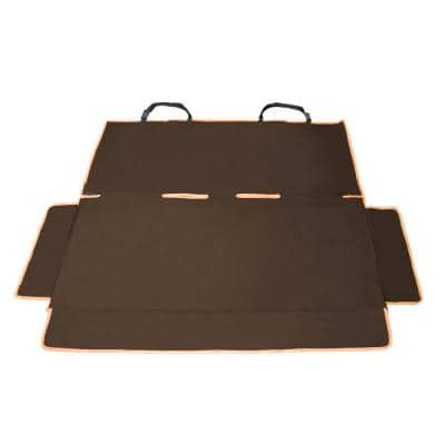 Dark Brown Open Road Mess-Free Back Seat Safety Car Seat Cover