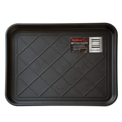 Black 15 in. x 20 in. Eco-Friendly Polypropylene Utility Boot Tray Mat