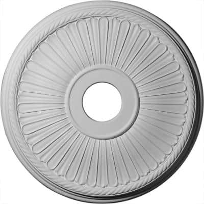 """20-1/8"""" x 3-7/8"""" ID x 1-7/8"""" Berkshire Urethane Ceiling Medallion (Fits Canopies upto 6-3/8""""), Primed White"""