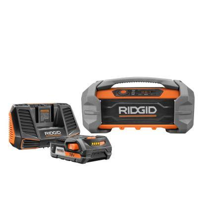 18-Volt Hybrid Jobsite Radio with 18-Volt Lithium-Ion 2.0 Ah Battery and Charger Kit