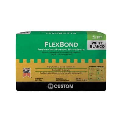 FlexBond 50 lb. White Crack Prevention Mortar