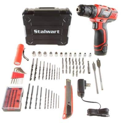 12-Volt Lithium Ion 3/8 in. Cordless 2 Speed Drill Set