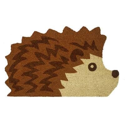 Hedgehog 30 in. x 18.5 in. Coir Door Mat