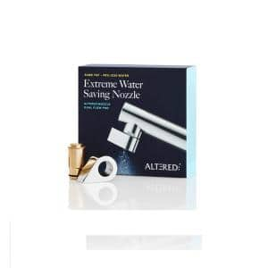 EcoBrass Chrome Nozzle Dual Flow Pro Same Tap, Universal Fitting with Adapters for Most Taps (Standard)