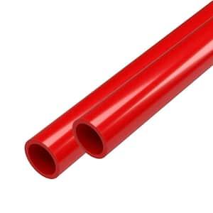 1/2 in. x 5 ft. Furniture Grade Schedule 40 PVC Pipe in Red (2-Pack)