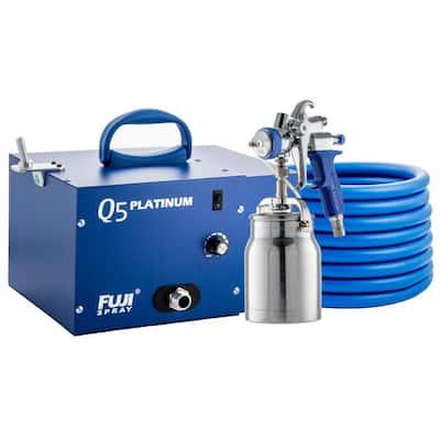 Q5 PLATINUM - T70 HVLP Paint Sprayer Gun with Bottom Feed 1 qt. Cup and 1.3 mm Air Cap Set HVLP Paint Sprayer System