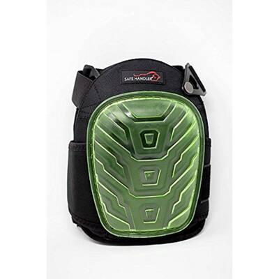 Professional Crystal Gel Knee Pads with Heavy-Duty Foam Padding and Gel Cushion (Gel Green)