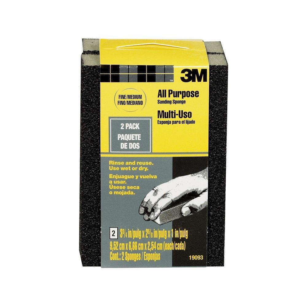 80 Grit Fine to Medium All-Purpose Drywall Sanding Sponge (2-Pack)