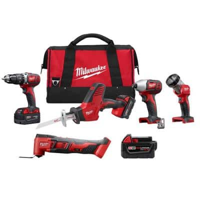 M18 18-Volt Lithium-Ion Cordless Combo Tool Kit (4-Tool) with 5.0Ah Battery and Multi-Tool
