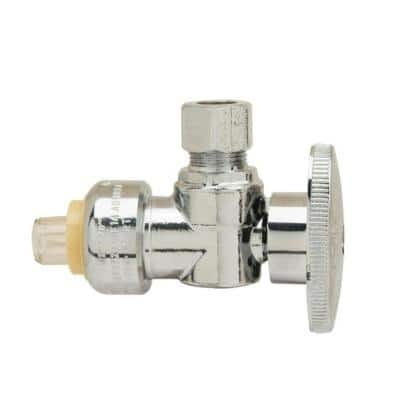 1/2 in. Push Connect x 3/8 in. Compression 1/4-Turn Angle Stop