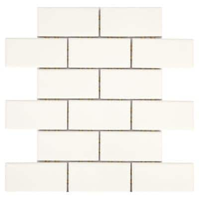 Restore Bright White 12 in. x 12 in. x 6.35 mm Ceramic Mosaic Wall Tile (0.83 sq. ft./ Each)