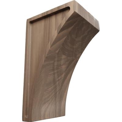 3 in. x 6 in. x 3-1/2 in. Walnut Small Lawson Wood Corbel