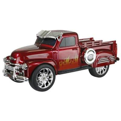 Retro Chevy Truck Portable Bluetooth Speaker (Red)