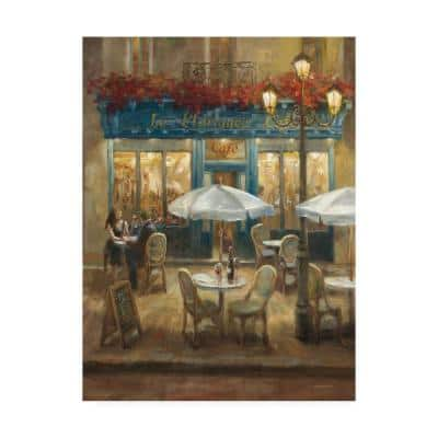 Paris Cafe I by Danhui Nai Floater Frame Culture Wall Art 32 in. x 24 in.