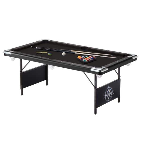 Fat Cat Trueshot 6 Ft Foldable Billiard Table 64 6035 The Home Depot - How Much Room Do You Need For A 6 Foot Pool Table