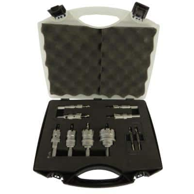 Carbide Tipped Hole Cutter Set with 1 in. Depth of Cut (8-Pieces)