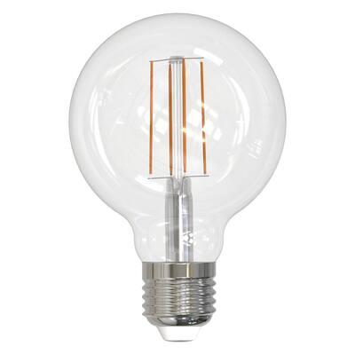 60-Watt Equivalent G25 Clear Dimmable Edison LED Light Bulb Soft White (2-Pack)