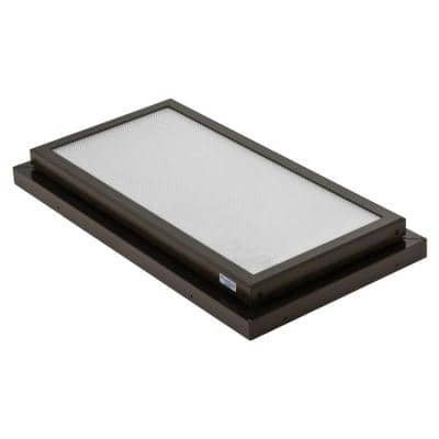 Prismatic 2 ft. x 4 ft. Fixed Curb-Mounted Flat Skylight