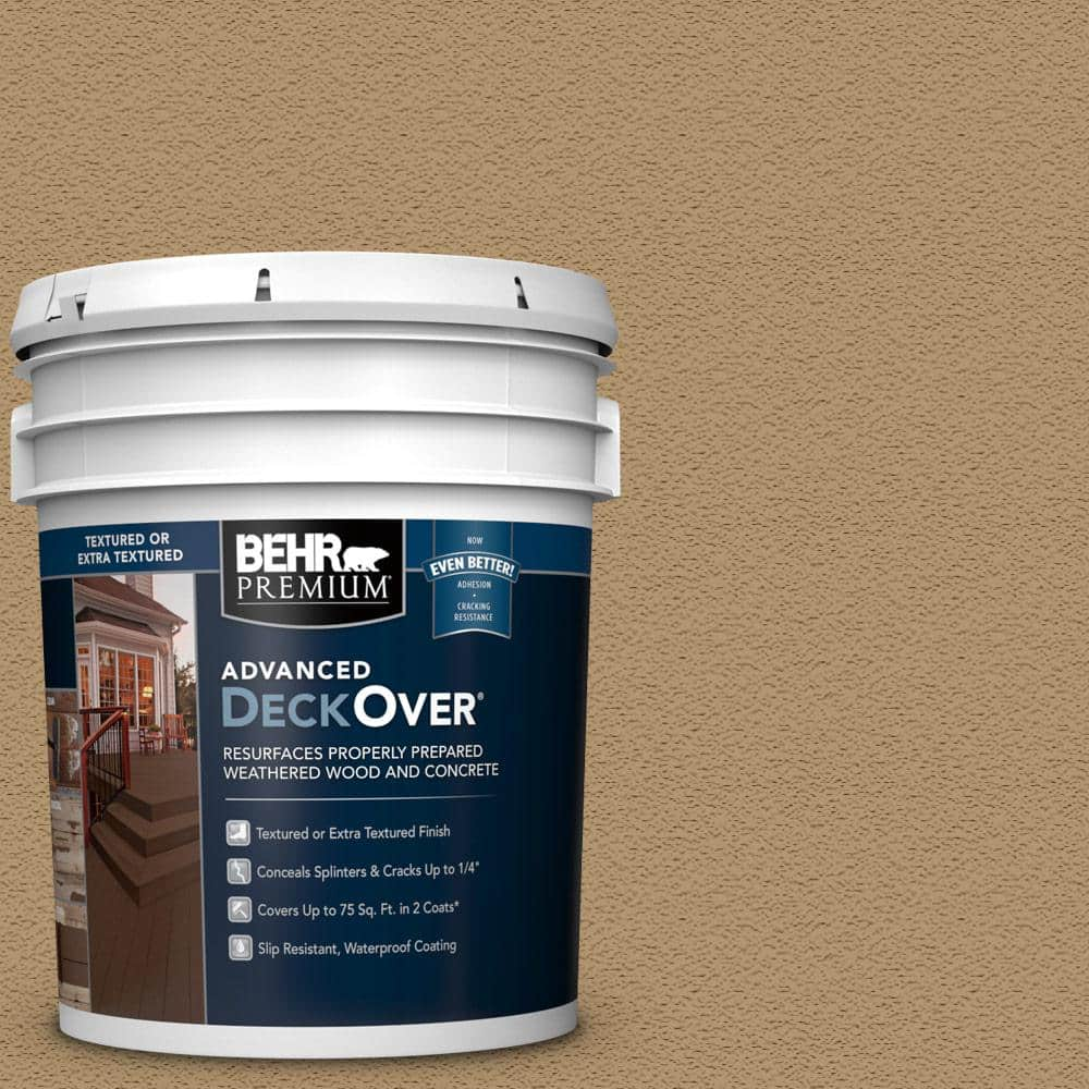 BEHR PREMIUM ADVANCED DECKOVER 5 gal. #SC-145 Desert Sand Textured Solid Color Exterior Wood and Concrete Coating
