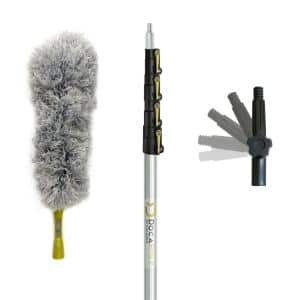 7 ft. to 30 ft. Extension Pole Plus Microfiber Feather Duster High Reach Telescopic Dusting Kit for High Ceilings