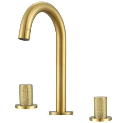 Industria 8 in. Widespread 2-Handle Bathroom Faucet in Brushed Gold
