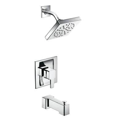 90 Degree Single-Handle 1-Spray Moentrol Tub and Shower Faucet Trim Kit in Chrome (Valve Not Included)
