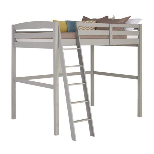 Camaflexi Concord Grey Full Size High Loft Bed   The Home Depot