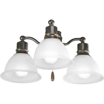 Madison Collection 3-Light Antique Bronze Ceiling Fan Light Kit