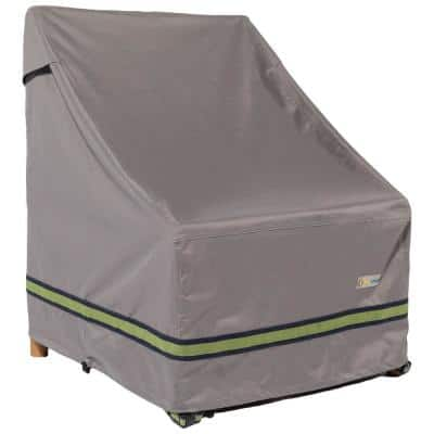 Soteria 28 in. Grey Stackable Patio Chair Cover