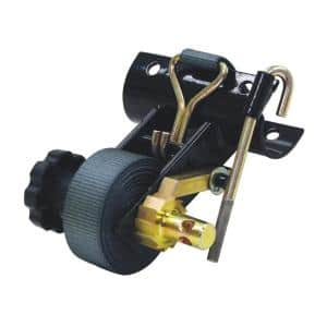 Ladder Rack Ratchet Tie Down Tube Mount With Double J Hooks