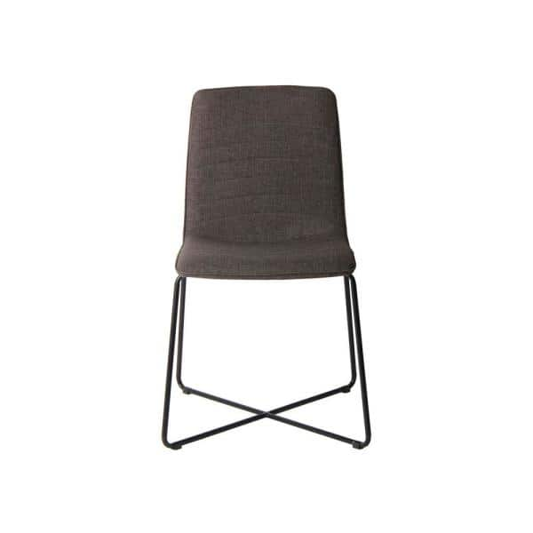 Baylee Pebble Grey Linen Upholstery With Cross Base Dining Chair 9le766b The Home Depot