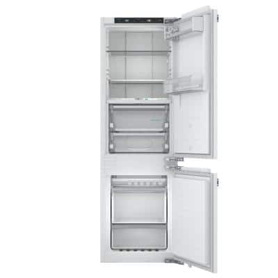 22 in. 8.3 cu. ft. Built-In Bottom Freezer Refrigerator in Custom Panel Ready with Home Connect Counter Depth