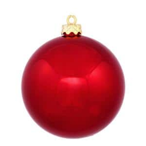 Shatterproof Shiny Red Hot Christmas Ball Ornament