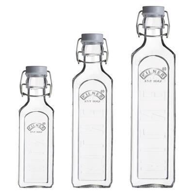 Clear Bottles (Set of 3)