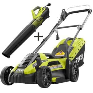 13 in. 11 Amp Corded Electric Walk Behind Push Mower and 8 Amp Electric Jet Fan Blower