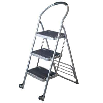 3.75 ft. Steel Folding Step Ladder (3.75 ft. Reach) and Dolly Cart