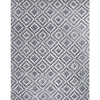Samba Square Gray 5 ft. x 7 ft. Indoor/Outdoor Area Rug