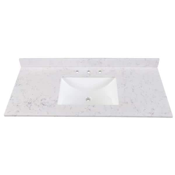Home Decorators Collection 49 In Stone Effects Vanity Top In Pulsar With White Sink Se49r Pr The Home Depot