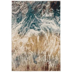 Gentry 17 Multi 3 Ft. 3 In. x 5 Ft. 1 In. Abstract Watercolor Area Rug