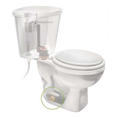 Secure Cap Universal Toilet Bolt Caps, White