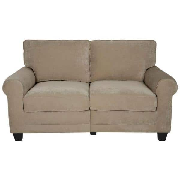 Serta Rta Copenhagen 61 In Vanity Espresso Polyester 2 Seater Loveseat With Removable Cushions Cr43531pb The Home Depot