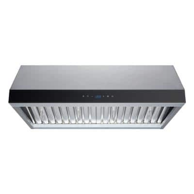 30 in. Convertible 480 CFM Under Cabinet Range Hood in Stainless Steel with Baffle Filters and Touch Control