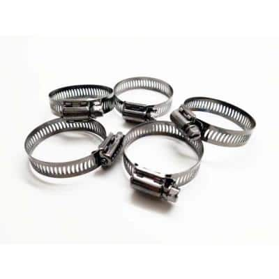 Marine Grade 300 Series Stainless Steel, SAE #16 Worm Gear Hose Clamp treated with NL-19. With added BLK-29 (TM)