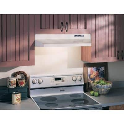 40000 Series 42 in. Under Cabinet Range Hood with Light in White
