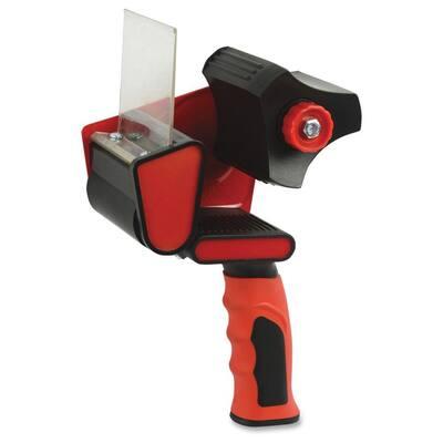 3 in. Packaging Tape Dispenser, Red/Black