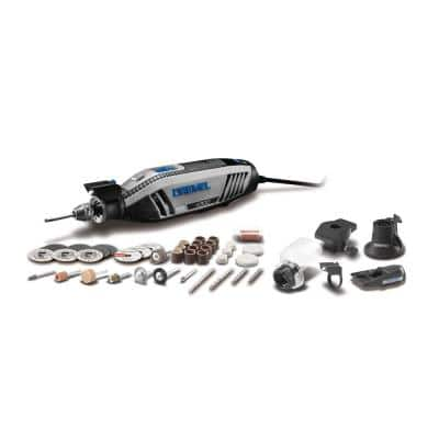 4300 Series 1.8 Amp Variable Speed Corded Rotary Tool Kit with Mounted Light, 40 Accessories, 5 Attachments and Case