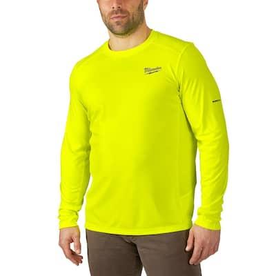 Men's Extra Large Hi-Vis GEN II WORKSKIN Light Weight Performance Long-Sleeve T-Shirt