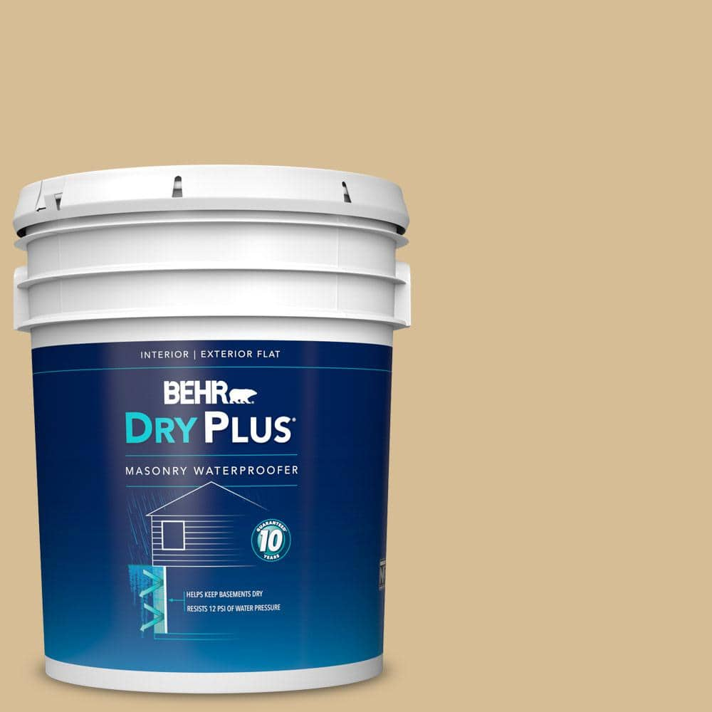 Behr 5 Gal Bw 50 Wheat Harvest Flat Interior Exterior Dry Plus Masonry Waterproofer 87505 The Home Depot